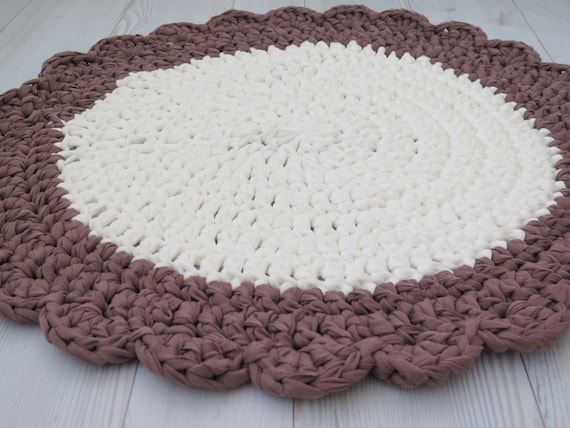 Crochet Small Round Rug Bath Mat Kitchen Mat Boho Decor