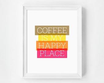 Coffee Art, Coffee Print, Printable Kitchen Art, Instant Download, Printable Art, Digital Prints, Digital Download, Wall Art Printable