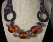 Vibrant African Fabric Necklace