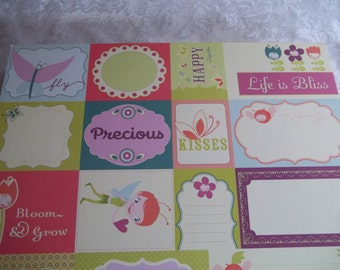 Pixie-Licious Journaling Cards by Cosmo Cricket 2- 12x12 sheets