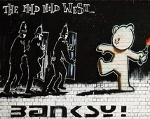 Banksy Canvas (READY TO HANG) - Mild Mild West - Multiple Canvas Sizes