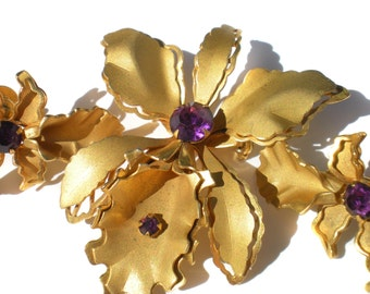 Vintage jewelry brooch screw earrings floral by ribbonsedge for Bugbee and niles jewelry