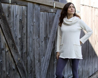 Hooded Cowl Gathering Tunic