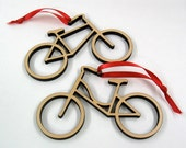 Bike Ornament: Wooden Bicycle Christmas Ornaments Boy Or Girl (1)