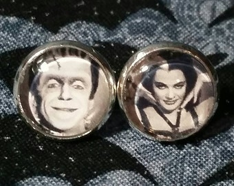 Herman and Lily Munster inspired earrings