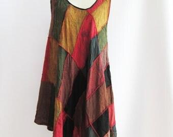 D26, Wavy Maternity Hippie Colorful Cotton Dress 2