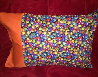 Cute ladybug pillow case 100% cotton Queen and Standard available