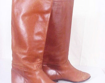SALE!!! Bandolino Made In Italy - Butternut Brown, Soft Glove Leather Boots, Sz 7M