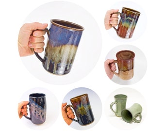 Stoneware Tankard or Beer Stein MADE TO ORDER (6 weeks) / Mug for men | Stoneware Tankard | Large Mug | Pottery Beer Stein /