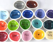 CUSTOM WHOLESALE 40 piece colored ring dishes with custom text wedding favor mixed ring holder wholesale party favors wedding thank you's