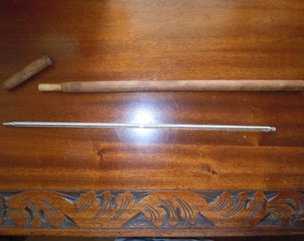 Vintage Excelsior Livestock Medical Thermometer Horse Thermometer Wood Case