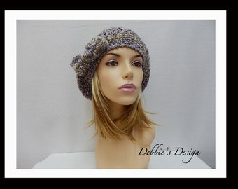 Women's Handmade Slouch Hat-320 Women's Slouch Hats, Handmade Crochet Slouch Hat, Hair Accessories, Hair Accessories, Cancer Hat, Chemo Hats