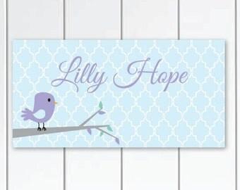 Sweet Tweet Girls Bedroom Nursery Personalized DOOR SIGN Wall Art
