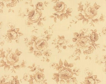 Roses & Chocolates - Tonal Roses in Ivory by Sentimental Studios for Moda Fabrics