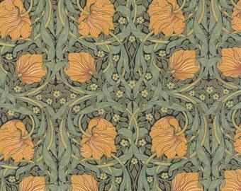 Best of Morris - Pimpernel in Black by Barbara Brackman for Moda Fabrics