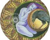 """Sticker - """"I Am Becoming A Weathered Basket"""" Mandala"""