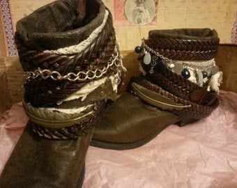 Sold Bohemian Up Cycled Cowgirl boots.