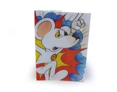 DangerMouse Passport Cover - Recycled Comic in Vinyl - Travel Wallet with Penfold