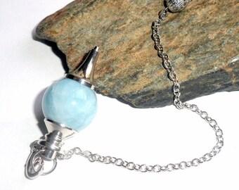 Aquamarine Sephoroton Pendulum Crystal Reiki Divination Tool