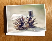 "Wedding CARD ""Oh Happy Day"" Love Card, Wedding Card, Quirky Wedding Card, Cute Pine Cone Wedding Card, Pine Cone, Bride & Groom Pine Cones"