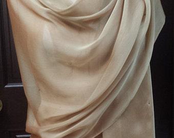 Gold Chiffon  XL  Shwal Wrap with Rhinestones