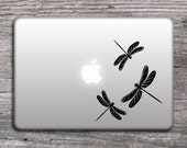 Dragonfly Silhouettes  Decal Stickers - for MacBook, cars, iPads, dragon fly vinyl sticker, any color Mac decals - 079