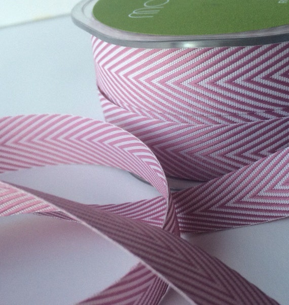 "3/4"" Plum Chevron Ribbon 3 yds"