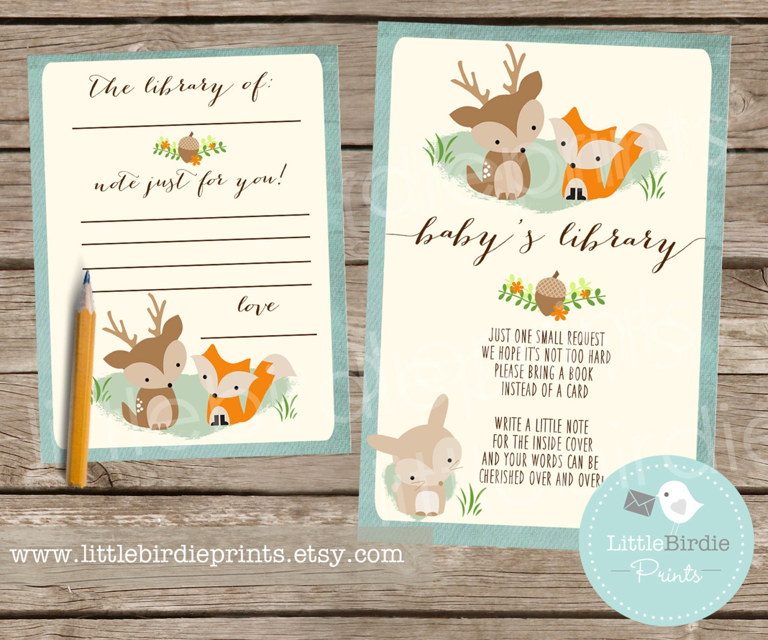 Baby Book Ideas: WOODLAND Baby Shower Book Instead Of A Card By