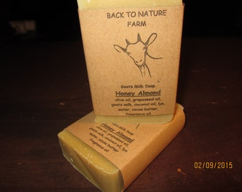 Handmade Honey Almond Goats Milk Soap