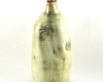 Ceramic Decanter Wine Oil Vinegar Sake Handmade Pottery Carafe Green Bottle Tableware