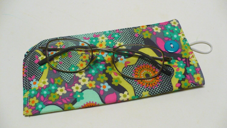 eyeglass fabric eyeglass holder butler peace flower