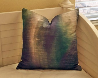 Larry Laslo Crystal River in Amazon Designer Pillow Cover - Square, Euro, Body Pillow and Lumbar Sizes