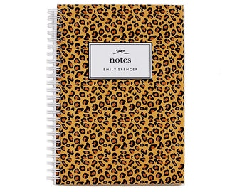 Personalized Notebook - Leopard Print