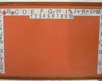Vintage 'Cass Toys' Orange Children's Chalkboard **reserved for Maureen