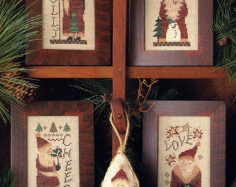 Santas 'A Plenty I ~ Cross Stitch Pattern