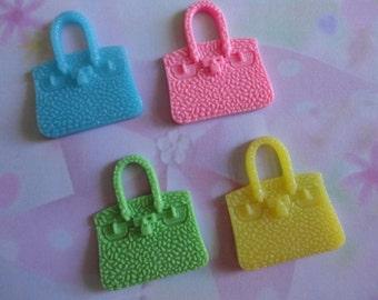 Kawaii girly handbag cabochon decoden deco diy charms  4 pcs--USA seller
