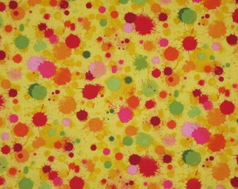 Colorful Splatter Pint Print Pure Cotton Fabric--One Yard