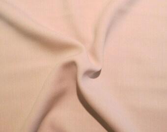 Pale Ecru Pure Wool Marocain Crepe Fabric--One Yard
