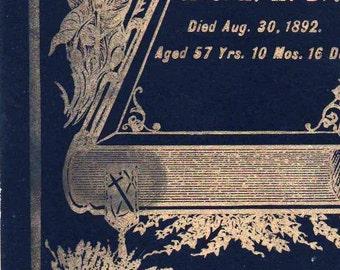 Antique 1892 Mourning Memorial Cabinet Card 1892 for Mrs A H Bridges Sad and Beautiful Antique Funeral Death Memento Morte