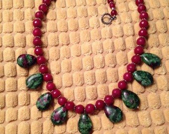 Ruby in Zoisite Necklace