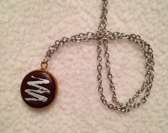 Chocolate Filled Donut Necklace