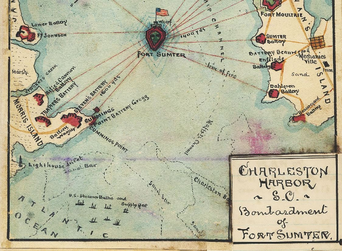 attack on fort sumter map