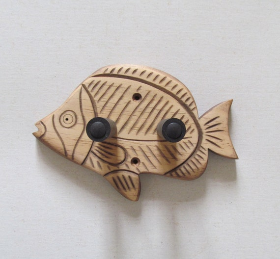 Unique Hand Carved Ukulele Wall Mount Hanger Holder Brown