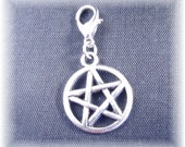 Pentacle Charm ~ Build your own Bracelet OR Familiar Pet Collar Charm Jewelry SB-Pent001