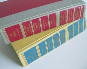 2 Vintage Volumes Best In Books Doubleday 1955 Photo Prop Home Wedding Decor