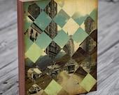 Geometic Art - Mid Century Art - Vintage Pattern - Wood Block Art Print