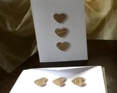 Paper Text Hearts Stationary with Kraft Envelopes
