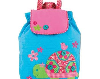 Personalized Monogrammed Stephen Joseph Signature Collection Quilted Turtle Backpack--Free Monogramming--