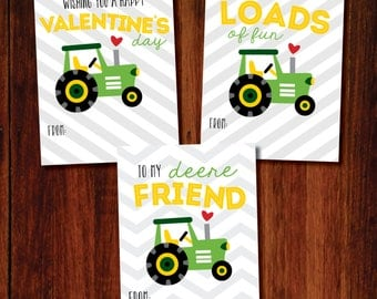Valentine Printable Cards - TRACTOR