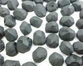 ONYX. Black. Natural. Untreated. Rough Hewn Matte Top Flat Bottom. Preforms. Free Form.  Geometric. 10 pc. 50 cts. 9x10 - 11x12mm  (OX301)